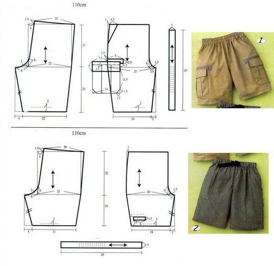 Как сшить мужские бермуды на резинке своими руками выкройка 5