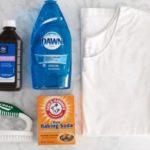 Как отстирать пятна от пота под мышками? Пятновыводители для одежды