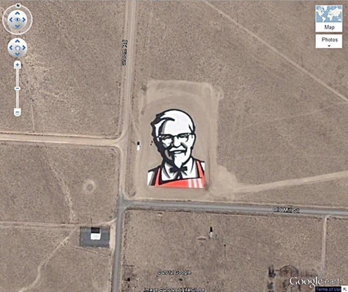 12 странных изображений на Google Earth