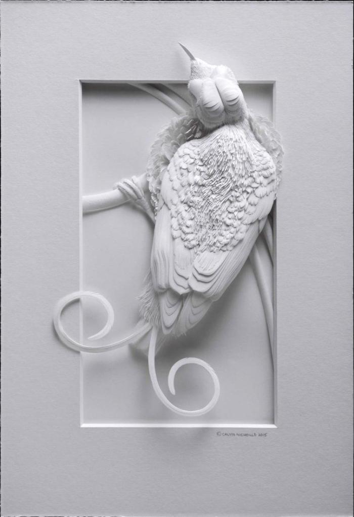 Бумажные скульптуры от Кэлвина Николлса поражают своей реалистичностью