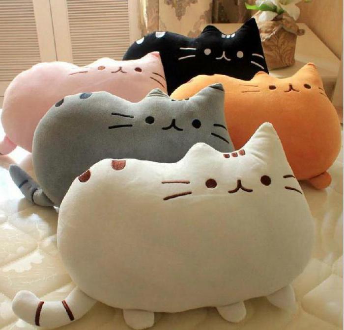 Выкройка игрушки-подушки (кота) для путешествий