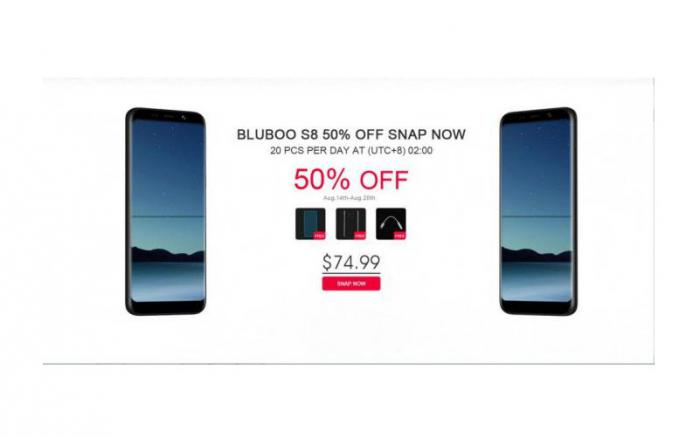 BLUBOO S8: официальное видео поможет узнать больше
