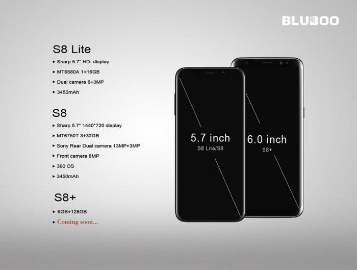 BLUBOO S8 за $80 VS SAMSUNG S8 за $800