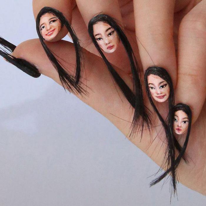Новый безумный тренд в маникюре — волосатые ногти