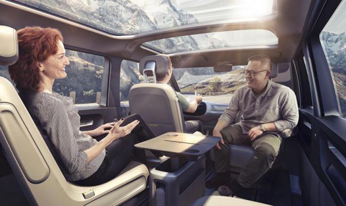 Новый концепт от Volkswagen - самоуправляемый микроавтобус будущего