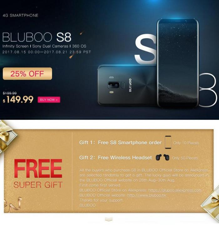 Предзаказы BLUBOO S8 продолжаются: второй этап