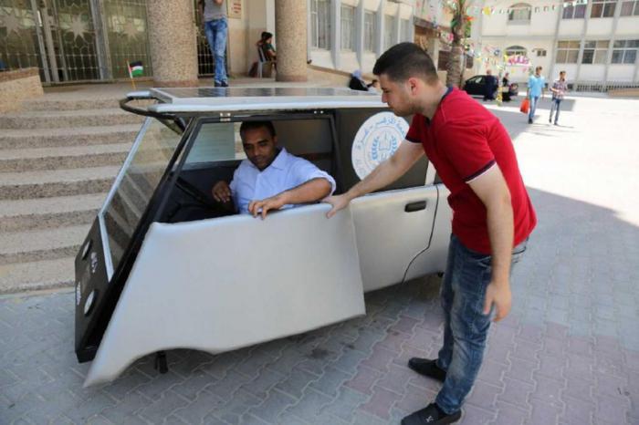 Студенты из Палестины построили автомобиль на солнечных батареях