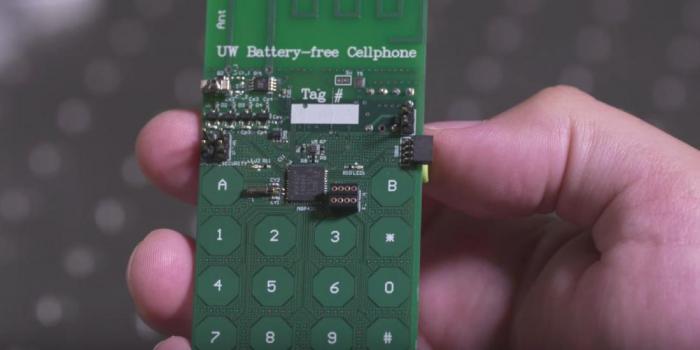 В США изобрели первый сотовый телефон без аккумулятора