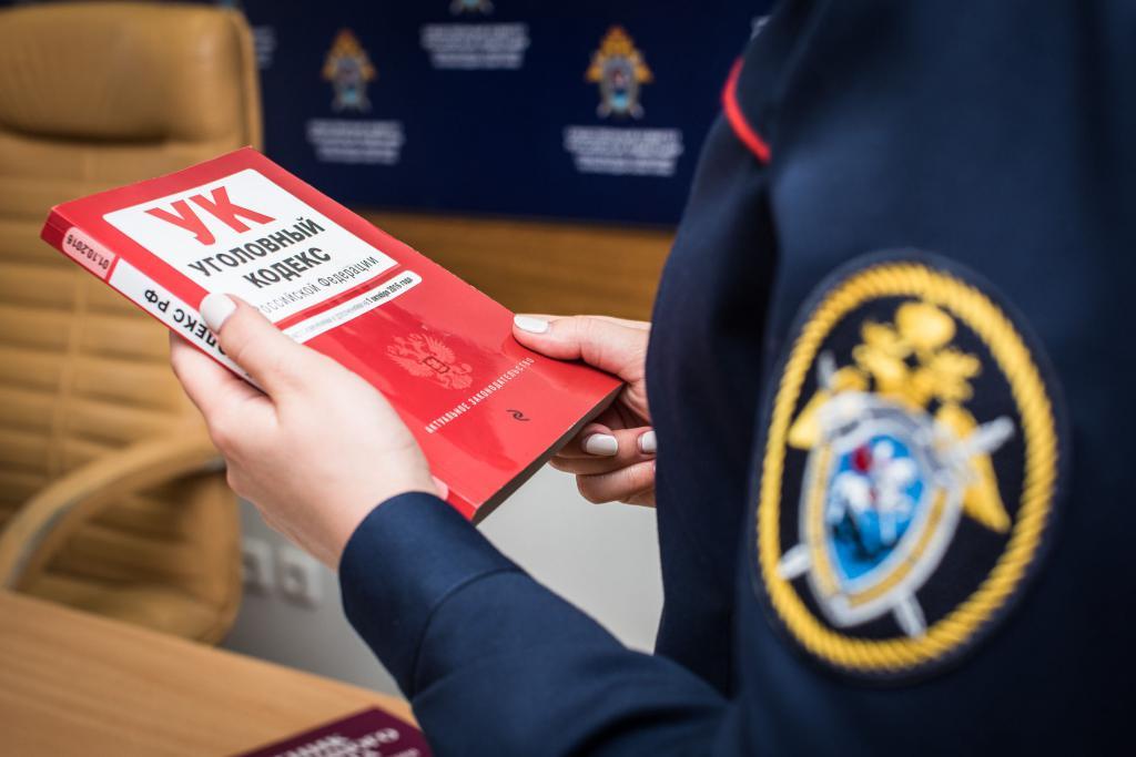 Сотрудница СКР изучает Уголовный кодекс