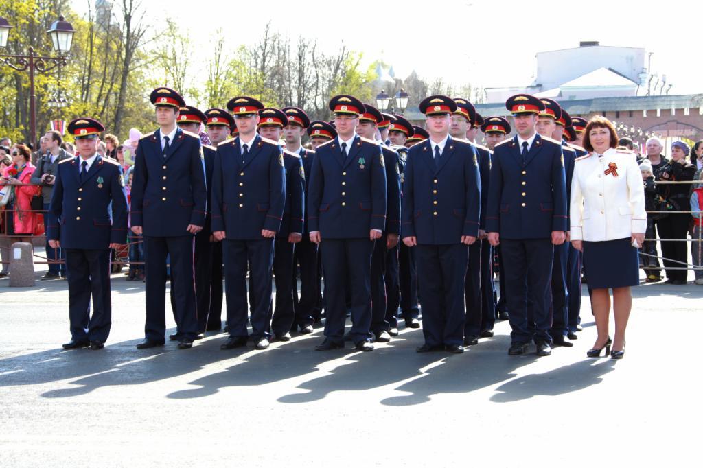 Парад сотрудников СКР по случаю Дня Победы