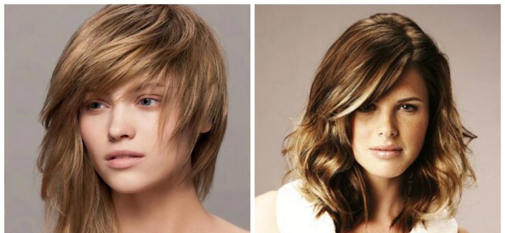 двойной каскад на волосы