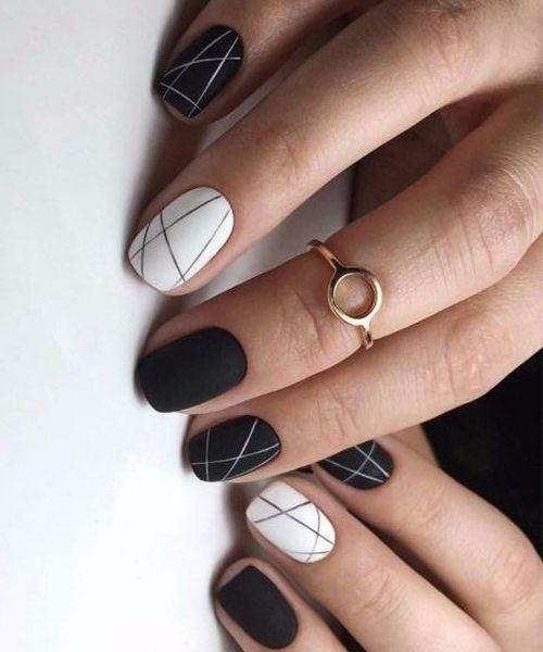 тонкие линии на ногтях