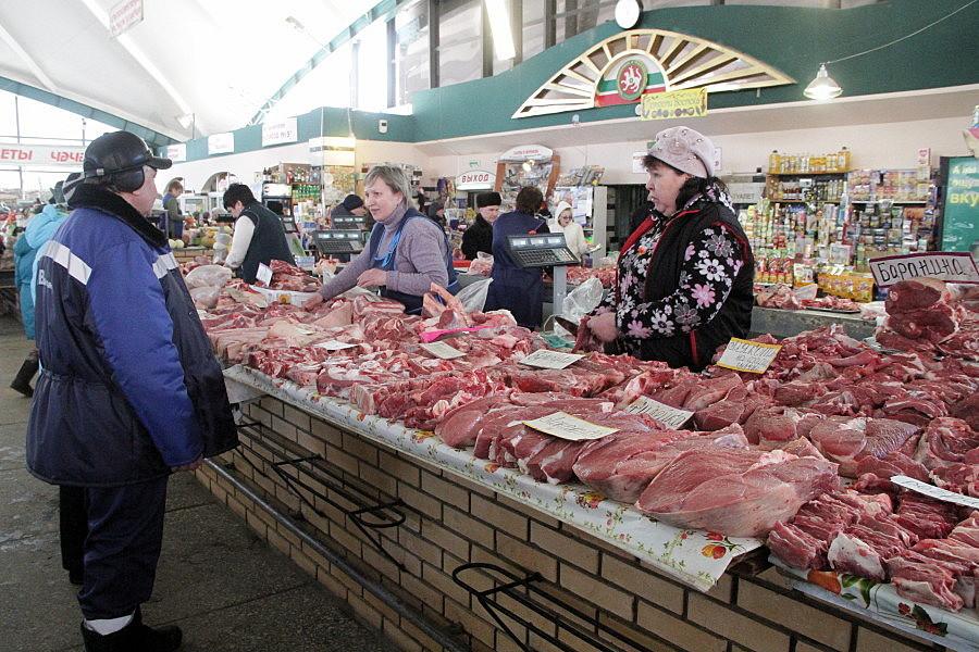 Прилавки с мясом