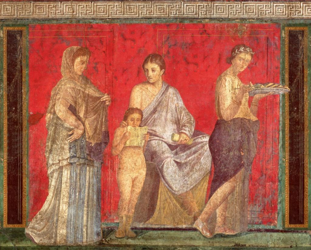 Одна из фресок дома Мистерии