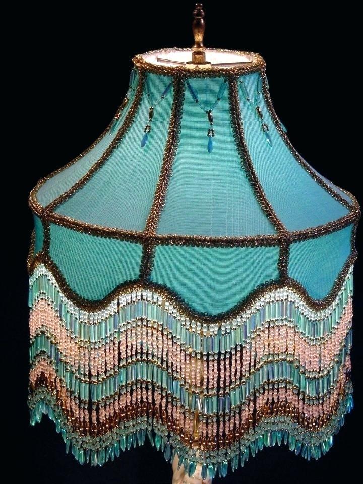 Абажур из ткани с элементами декора
