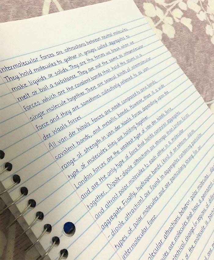Пример понятного почерка