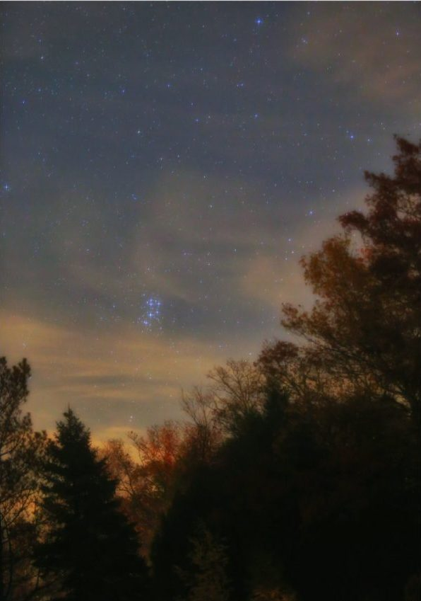 Стожары в вечернем небе