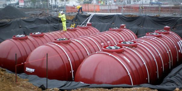 Пожарные резервуары из цистерн