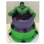 Зеленый монстр: торт с Халком
