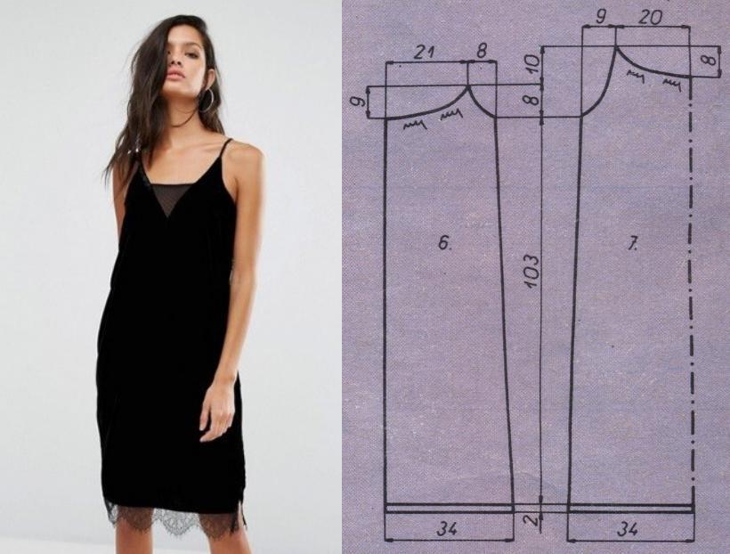 платье комбинация выкройка готовая