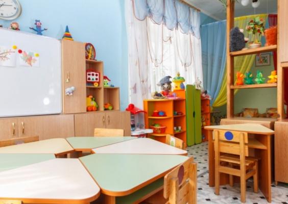 В дошкольном отделении