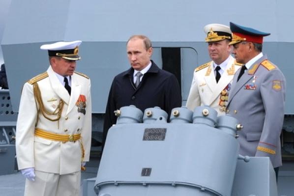 путин на военном корабле