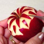 Карвинг из яблока: пошаговый способ приготовления