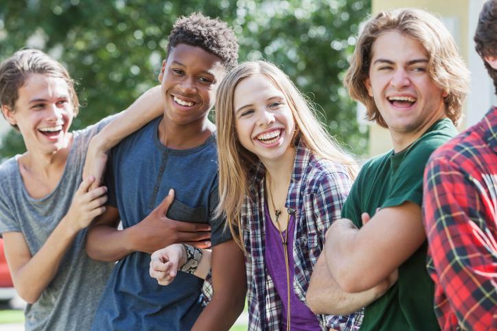 Подростки на прогулке
