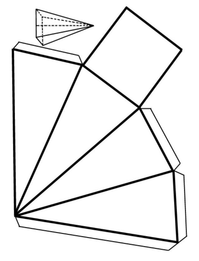 Развертка правильной пирамиды