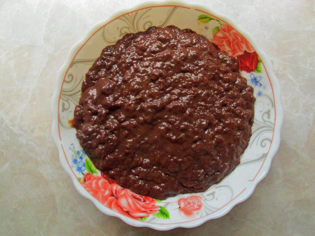 перемеленая на мясорубке печень