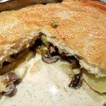 Заливной пирог с грибами и картошкой: ингредиенты, рецепты