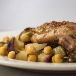 Рецепт курицы с картошкой в утятнице в духовке