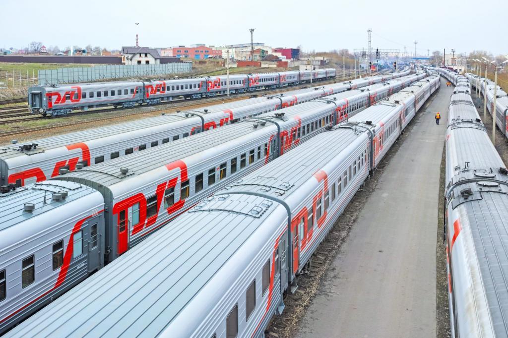 Место стоянки пассажирских поездов
