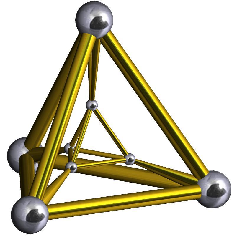 Две треугольные пирамиды