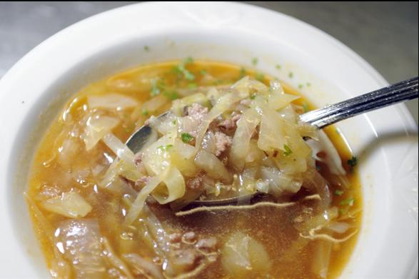 суп вегетарианский с вешенками
