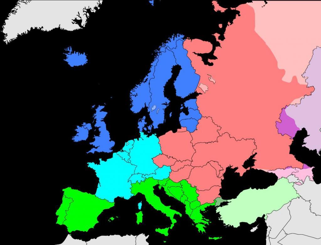 Деление Европы по версии ООН