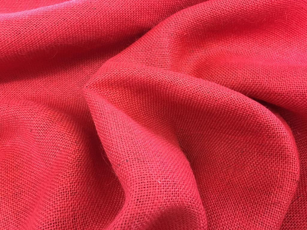Крашеная джутовая ткань
