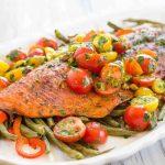 Красная рыба в духовке с овощами: самые вкусные рецепты
