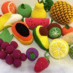 Вязаные овощи и фрукты: фото с описанием