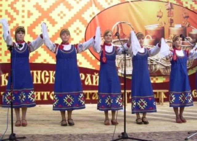 Выступление в селе Коса