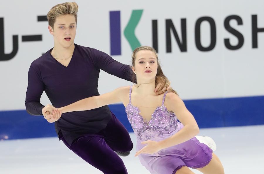 Антон Пономаренко и Кристина Каррейра на льду