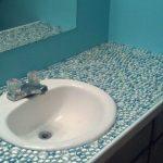 Столешница в ванной из мозаики: особенности, идеи и рекомендации