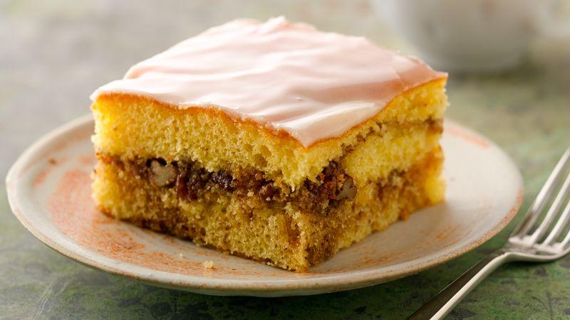 Медовое пирожное с грецким орехом