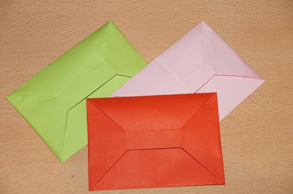 Оригами открытка конверт с сюрпризом