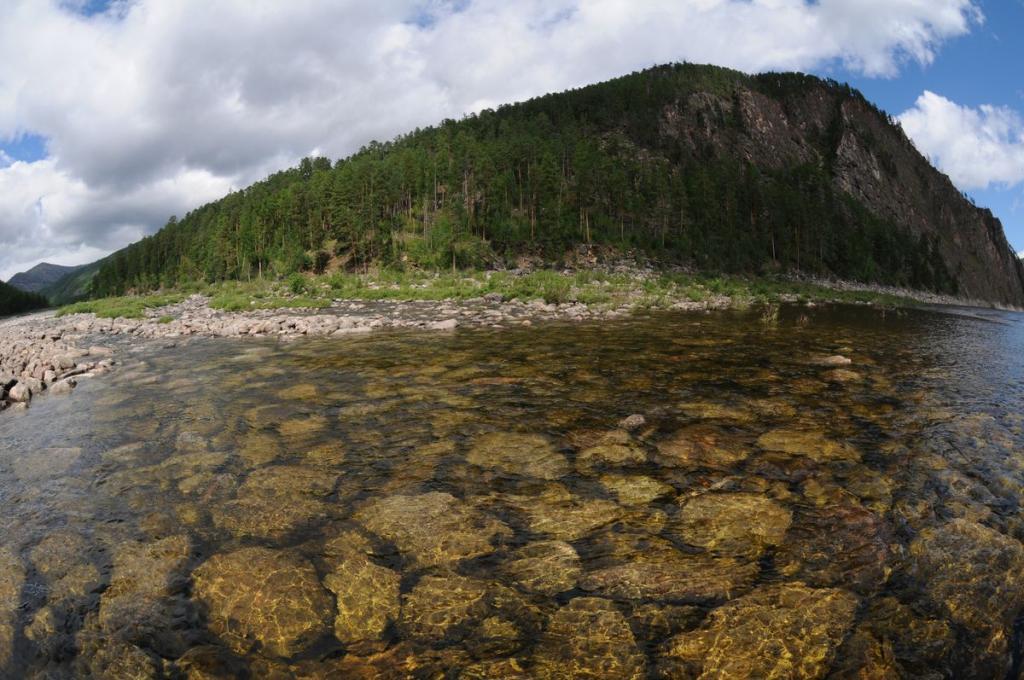 вид с реки Олекма на остров