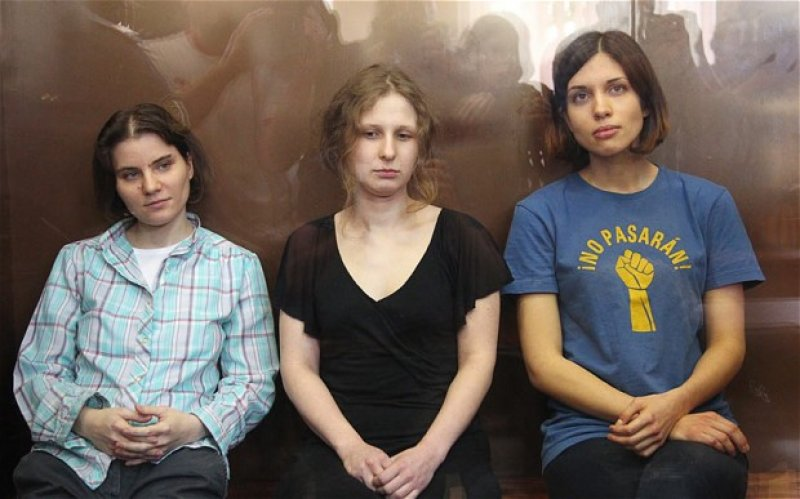 Pussy Riot на суде. 2012 год.