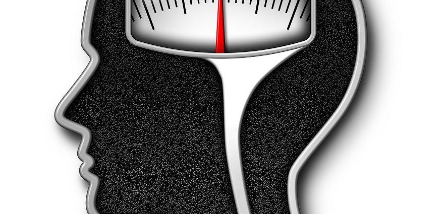 изображение весов на фоне головы
