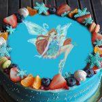 Простой рецепт торта Фея с вафельной картинкой