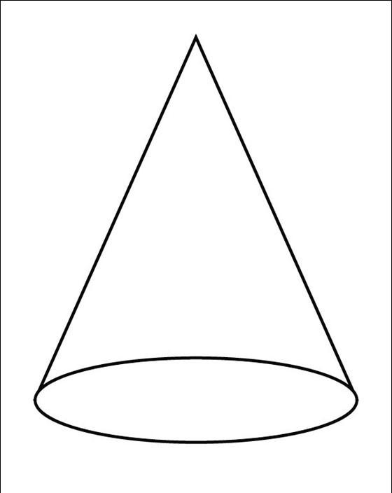 Прямой круглый конус