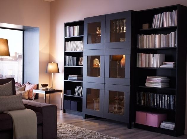 Стильный книжный шкаф
